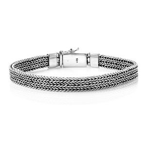 Bali Legacy Collection Sterling Silver Tulang Naga Bracelet (8.00 In, 29.5 g) (8.00 In)