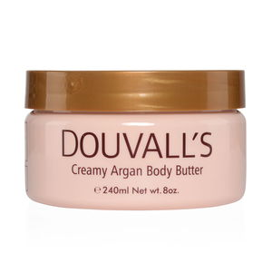 DOUVALL'S Creamy Argan Body Butter-240 ML 8 oz (Unscented)