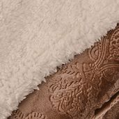 Brown Baroque Pattern 100% Polyester Flannel Blanket (59.05x78.74 in)