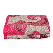 Red Abstract Pattern Microfiber Flannel Printed Blanket (59x78 in)